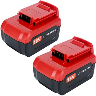 Lasica Upgraded 2-Pack 4000mAh 18V Lithium Battery PC18B for Porter Cable 18 Volt Cordless Power Tools Battery PC18BL PC18BLX PCC489N PC188 PCXMVC Porter Cable 18-Volt Replacement Battery
