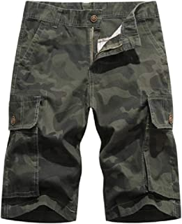 Buildhigh clothes Multi-Pocket Camo Short Pants Summer Casual Cargo Shorts