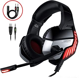 CHEREEKI Cascos Gaming Cascos para Juegos PS4, PC, Xbox One
