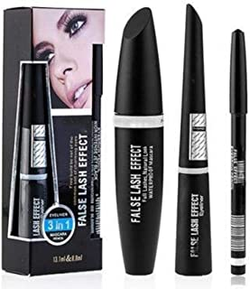 crazy girl 3 IN 1 LINER MASCARA & LICQID LINER and kajal (set of 3)