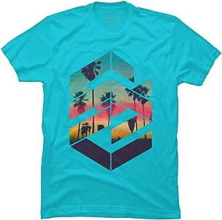 Geometric Sunset Beach Men's Graphic T Shirt