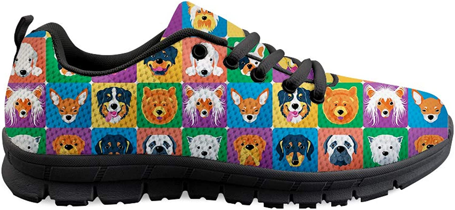 Owaheson Lace-up Sneaker Training shoes Mens Womens Dogs Happy Group Photo