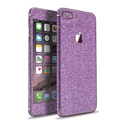 LAMINGO iPhone 8 Plus iPhone 7 Plus Glitzerfolie Skin Diamond Sticker Klebefolie in lila
