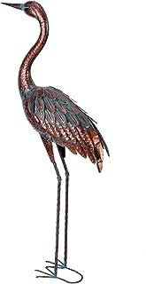 Best Outdoor Garden Crane Statues and Sculptures Metal Yard Art Statue for Garden Decoration Large Size Review