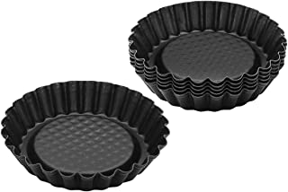 Zenker 6531 Lot de 6 moules à tartelettes, mini moule à tarte, 6 moules pour tartelettes renversées, mini moules, Acier in...