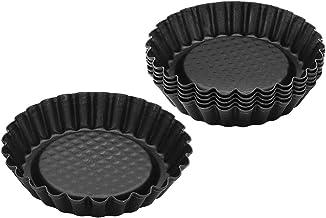 "Zenker 6531 Mini Tart Pans (Set Of 6), Black/Metallic, 4.13"""
