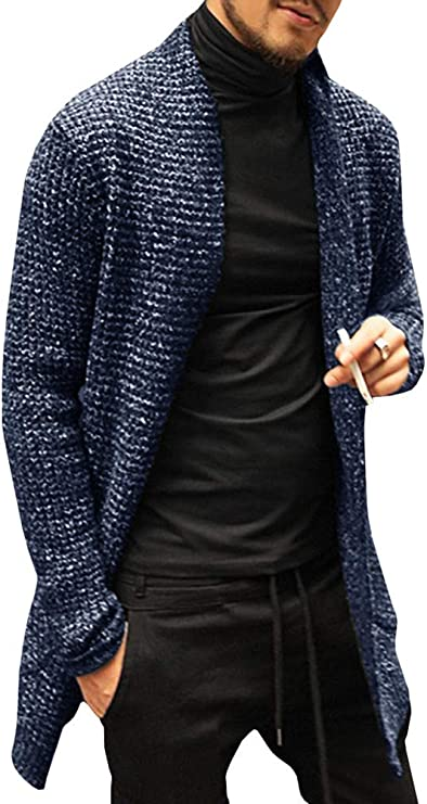 open front cardigan shawl collar cardigan with pockets mens cardigan AXEL men sweater black jumper Black wool cardigan wrap cardigan