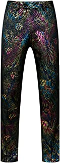 Mens Luxury Sequin Printed Pants-Unhemmed