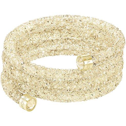 Swarovski Damen-Armband CRYSTALDUST Wide teilvergoldet Kristall Gold 4.8 cm - 5292446
