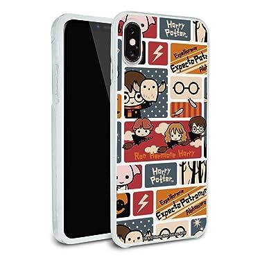 Harry Potter Cute Chibi Pattern Protective Slim Fit Hybrid Rubber Bumper Case Fits Apple iPhone 8, 8 Plus, X, 11, 11 Pro,11 Pro Max