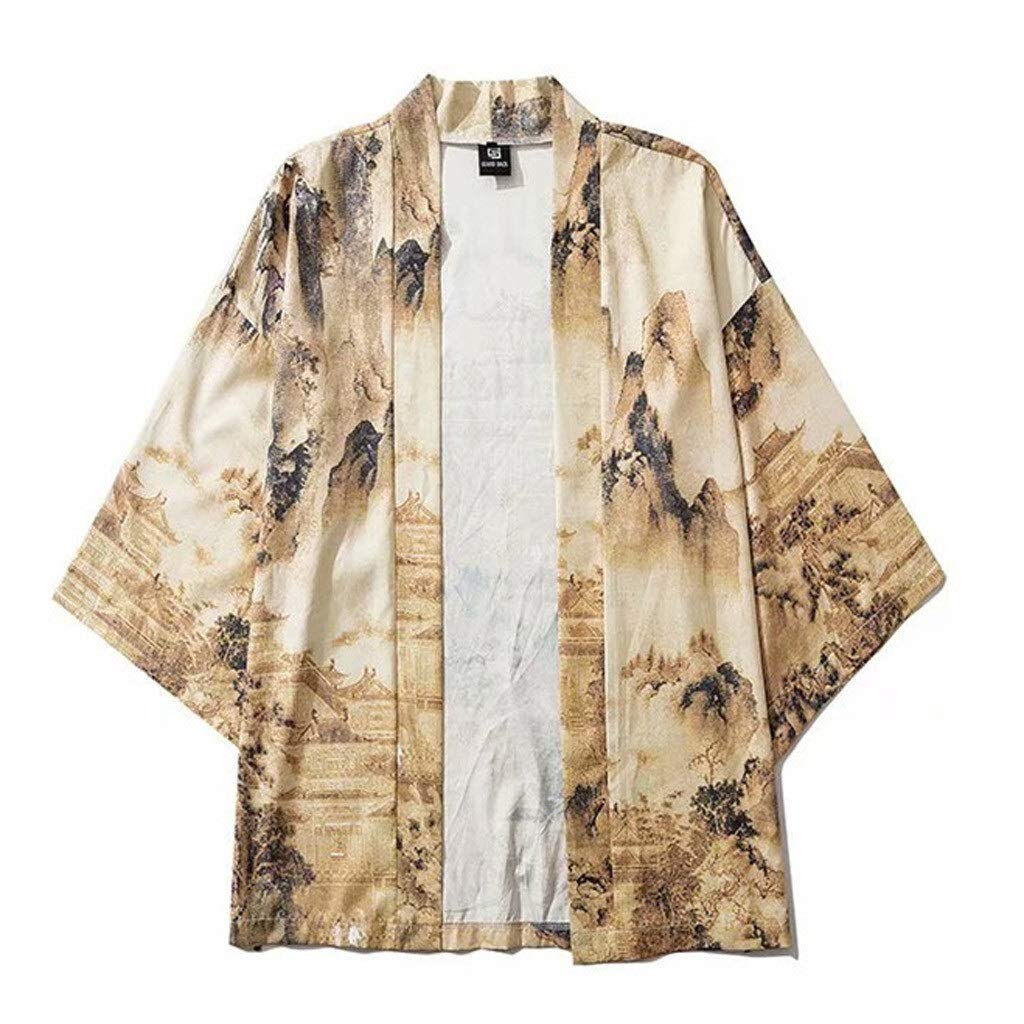 Fashion SHOP Hombres Mujeres Kimonos japoneses Ropa Kimono Cosplay Chaqueta de Punto for Hombre del Kimono