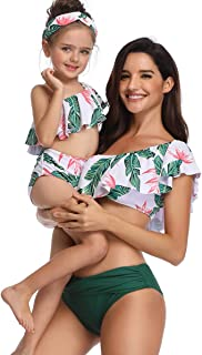 Mommy and Me Family Matching Swimwear Newest Printed Bikini Two Pieces Sets