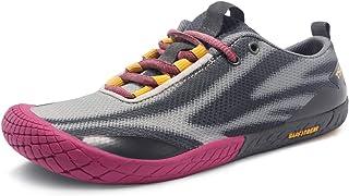TSLA Women's Trail Running Shoes, Lightweight Athletic Zero Drop Barefoot Shoes, Non Slip Outdoor Walking Minimalist Shoes