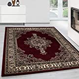 Teppich Orientteppich Klassische Optik Orientalisch Traditional Medaillion Rot, Maße:240 cm x 340...