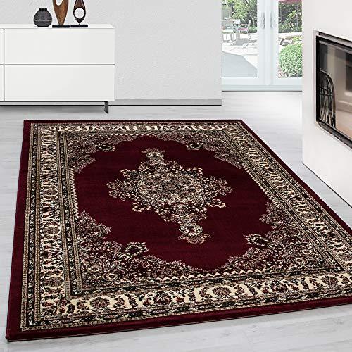 Teppich Orientteppich Klassische Optik Orientalisch Traditional Medaillion Rot, Maße:300 cm x 400 cm