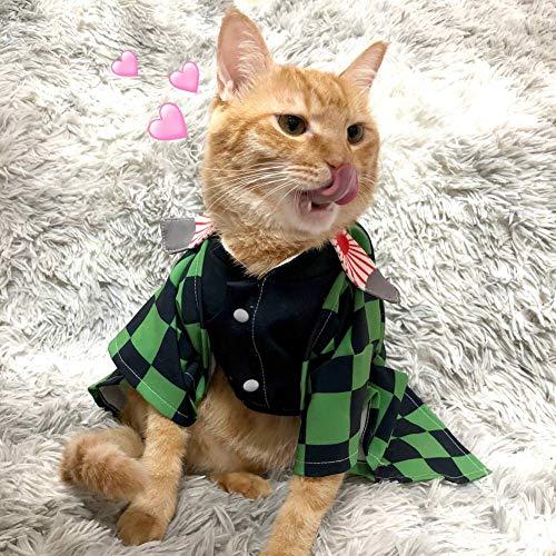 Marlon Nancy Disfraz de gato pequeo perro cosplay para anime demonio slayer (tamao nico H03)