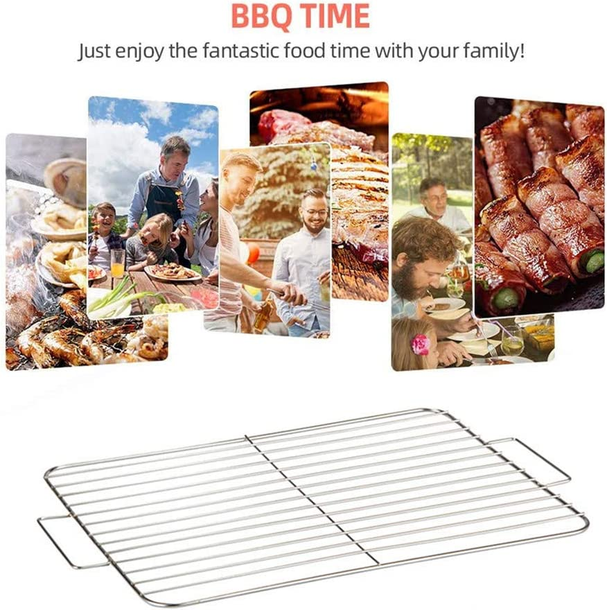 chunnron Grille Barbecue Rectangulaire Grille De Barbecue Barbecue Grill Rack Barbecue Grillades BBQ Grill Mat Barbecue Rack Barbecue Grille M S