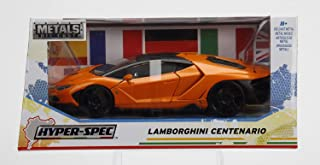 Lamborghini Centenario Orange Hyper Spec 1/24 Scale Diecast Car Model By Jada 99363