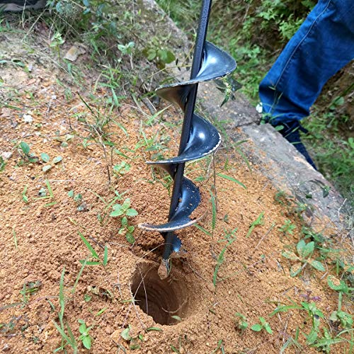 Auger Drill Bit for Planting Garden Auger Bulb Planter Garden Drill Bit Post Hole Digger 1.6×16.5