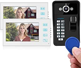 Video Doorbell, System 1 Camera RFID Wired Doorbell, Waterproof Full Color for Home Security System Apartments(Australian ...