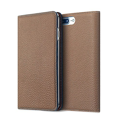 iPhone 8Plus / 7Plus ケース BONAVENTURA ボナベンチュラ German leather diary case (エトープ)