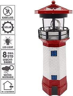 48 solar lighthouse with rotating beacon