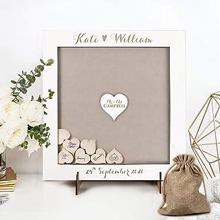 Blanco Libro de firmas para Boda y Comumion Bodas original vintage madera con gratis corazones wonderful decoracion Person...
