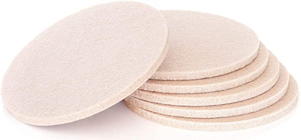 Comfortena Absorbent Felt Coaster Inserts Set Of 6 Soft Sand