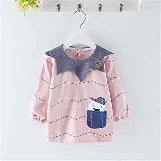 0-4 Years Old Children's Long-sleeved Waterproof Bib Cover Cotton Anti-dressing Infant Painting Clothes For Infant Toddler...