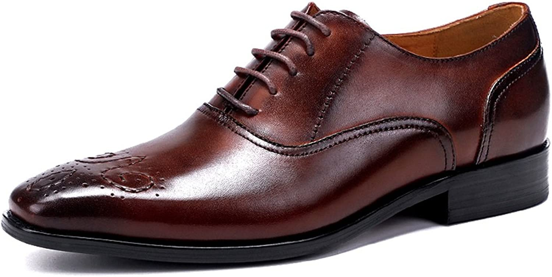 GLSHI Mann's skor läder Springaa Springaa Springaa Fall Formal skor Bullock skor Mode Oxfords gående skor Split Joint for bröllop Office och biler  exportutlopp