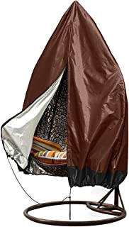 Patio Hanging Chair Covers, Large Wicker Egg Swing Chair Covers, Heavy Duty Weather Resisatnt Outdoor Chair Covers Guarantee and Big Size 75