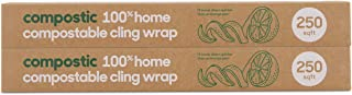 Compostic Home Compostable Cling Wrap - Eco Friendly, Reusable, Zero Waste, Non-Toxic, Guilt-Free - Beeswax and Plastic Al...