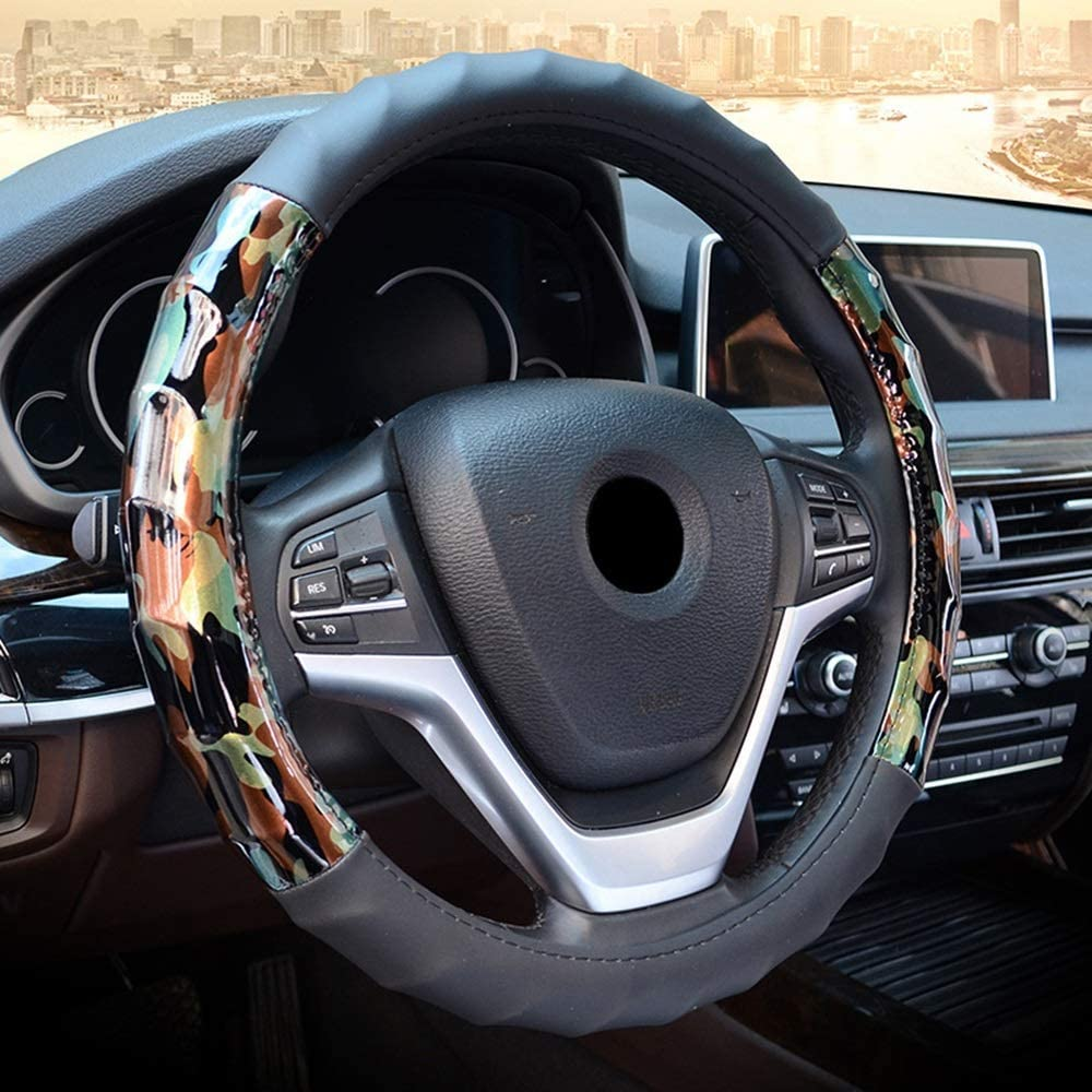 Max 41% OFF Steering wheel cover covers Black Max 89% OFF Microfiber New