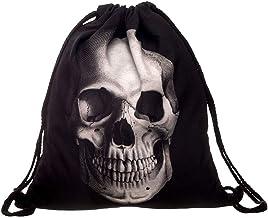 ALIKEEY Non - Woven Bags Drawstring Unisex Mochila Bolsa De Impresión Digital De Bolsillo 3D Bouquet Perros Parfois