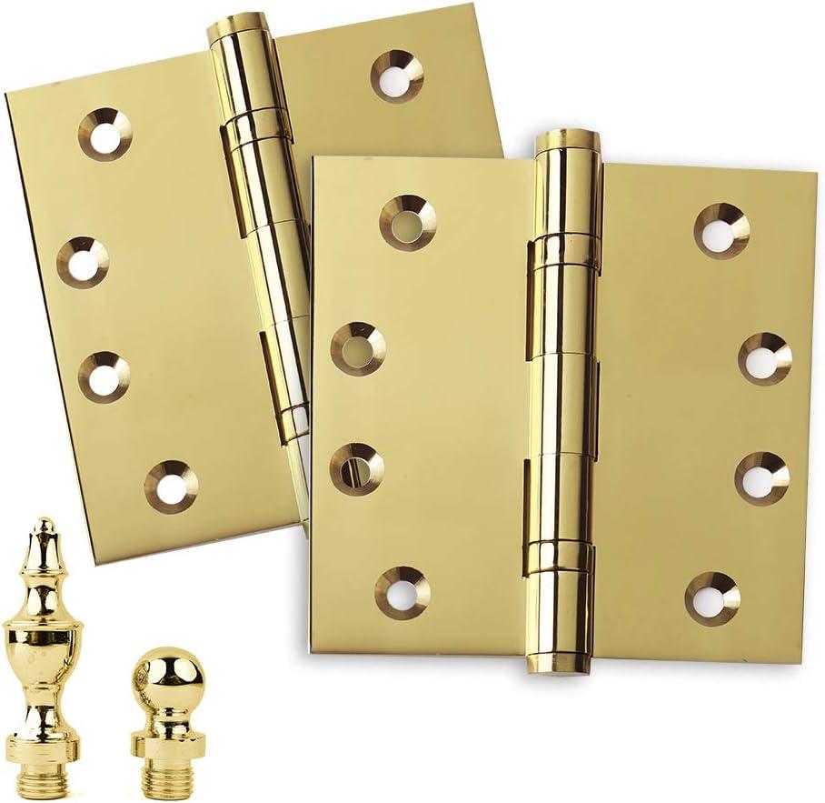 Tampa Mall Embassy Door Hinge New sales Solid Brass - 4 Heavy Inch x Duty Polishe