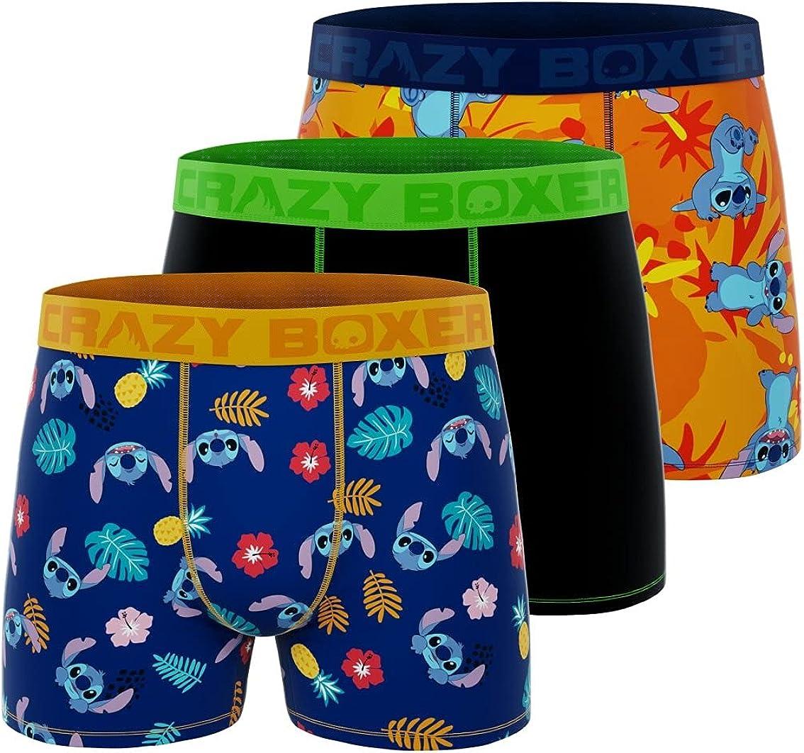 CRAZYBOXER Disney Men's Boxer Briefs (3 pack)