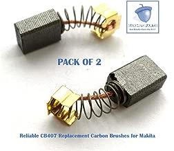 2PCS Reliable CB407 Carbon Brush Replacement for Makita CB419, CB407, 191962-4, 191927-6, 195007-0 (2 pcs/pack)