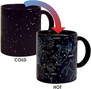 The Unemployed Philosophers Guild Heat Changing Constellation Mug - Add Coffee or Tea and 11 Constellations Appear - Comes in a Fun Gift Box