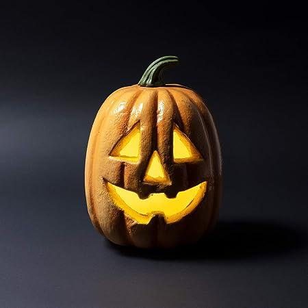 Immagini Zucca Di Halloween.Lights4fun Zucca Di Halloween Decorativa Con Led A Pile Amazon It Casa E Cucina