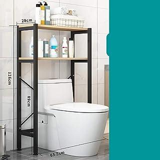 AISHANG Étagères de Salle de Bains à 2 Niveaux au-Dessus du Support de Rangement des Toilettes buanderie économiseur d'esp...