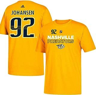 adidas Ryan Johansen NHL Nashville Predators Men's Gold Authentic Ice Name & Number Jersey T-Shirt