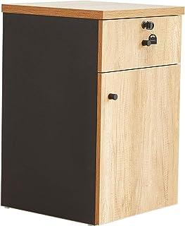 Armoires Classeur de Bureau en Bois avec classeur à tiroirs de Verrouillage Meuble Bas