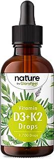 Vitamin D3 + K2 MK-7 i Droppform - 5000 I.E. per 5 Droppar - 50 ml (1700 Droppar) - Högkoncentrat och Hög Bioaktivitet med...