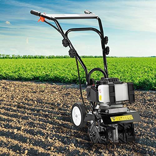 BRAST Benzin Motorhacke 1,9kW(2,6PS) mit 25cm Arbeitsbreite Ackerfräse Gartenfräse Bodenfräse Kultivator