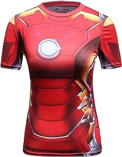 Cody Lundin Femme T-Shirt Super H/éros Sport Fitness Chemise Multicolore