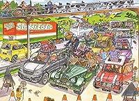 漫画のジグソーパズル-こどもの日ギフト-大人の1000ピースのジグソーパズル-クラシックなジグソーパズル-3D-混雑した道路のジグソーパズル