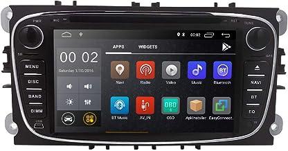 hizpo Android 8.1 Reproductor de DVD Estéreo Radio Unidad Principal Unidad de 7 Pulgadas GPS Soporte para Reproductor de DVD 4G WiFi USB SD OBD2 Dab+ para Ford Mondeo S-MAX Focus Galaxy C-MAX
