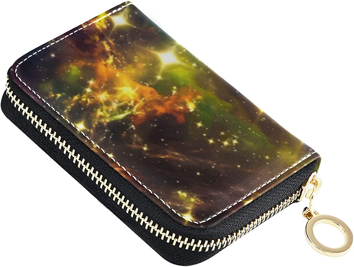 Credit Card Wallet for safety Women Space With Cards Leather Glitters Ranking TOP5 C