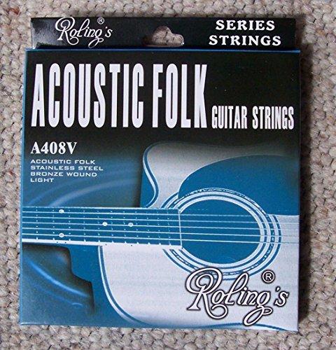 Pacchetto / set 6 corde 012/053 per chitarra acustica (folk) - Roling's A408V