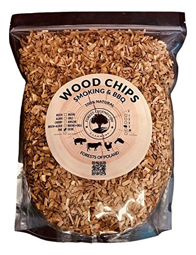 5 Litre Smoking Wood Chips for BBQ and Smokers 100% Natural from Polish Forests (Oak)